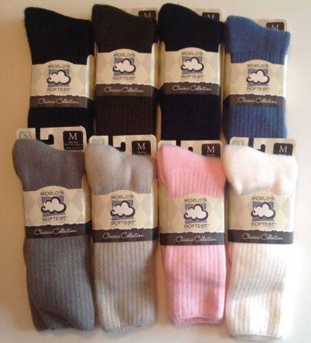 World/'s Softest Socks Women/'s /& Men/'s Crew Socks  Medium or Large 1 Pair