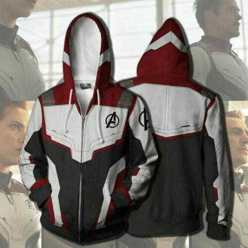 2019 Avengers 4 Hoodie Superhero Advanced Tech Jacket Sweatshirt Cosplay Costume