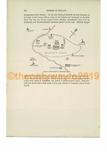 Battle-of-Bosworth-Field-Plan-Book-Illustration-Print-c1870
