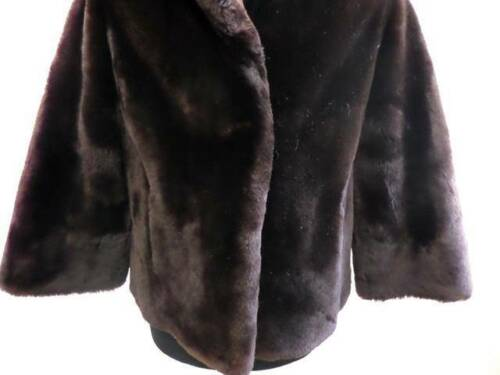 Cappotto S Sweet di S Cappotto Sheep Vintage Donna Coat Sheep Beaumouton Marrone Women Soft pelliccia 38 Beaumouton 38 Brown pelliccia di Jacket Vintage Yafqx