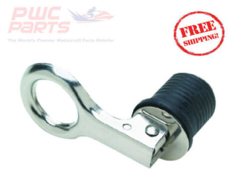 """SEACHOICE Expansion Drain Plug Stainless Steel Snap Lock 1/"""" Hole Boats 18901"""