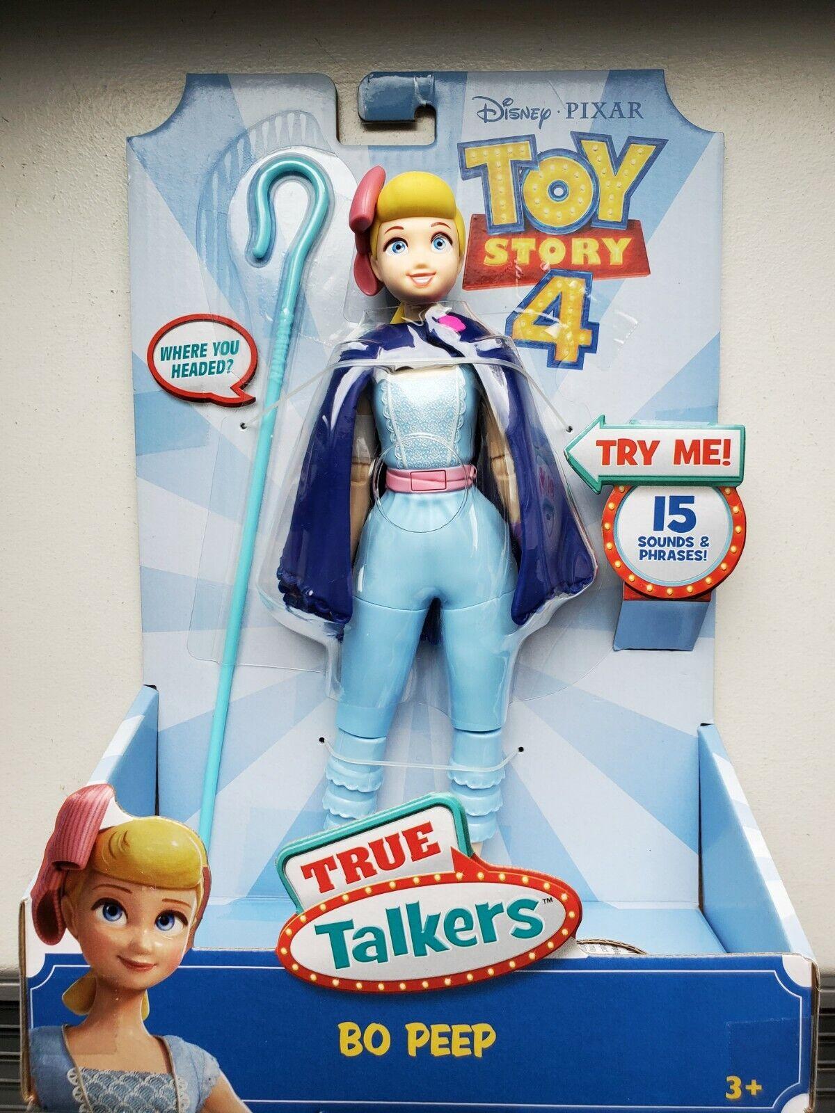 Disney Pixar Toy Story 4 Bo Peep Talking Action Figure 15 Sayings Buzz Woody Rex