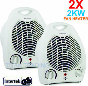 2X-Portable-2kw-Home-Electric-Upright-Adjustable-Fan-Heater-Hot-Cold-Small-2000W