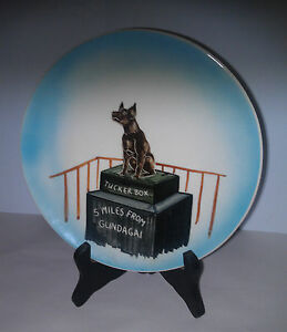 Little-Pottery-Australia-vintage-Dog-on-Tuckerbox-5-Miles-from-Gundagai-plate