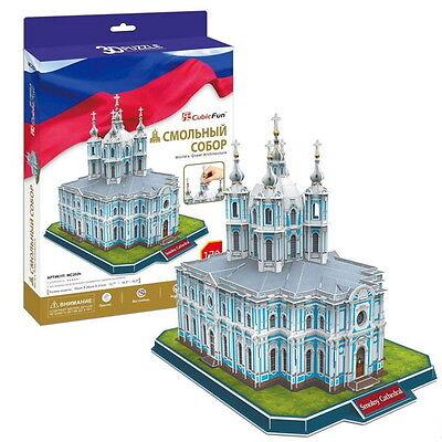 3D PUZZLE CubicFun 172 pcs SMOLNY CONVENT RUSSIA SAINT PETERSBURG ARCHITECTURE