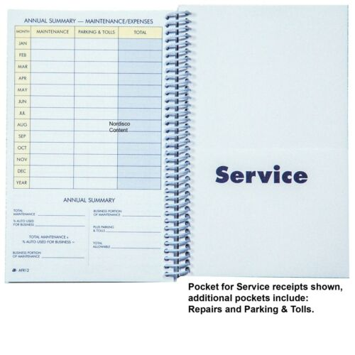 """Adams AFR12 Vehicle Mileage /& Expense Journal 8-1//2 x 5-1//4/"""" 64 Pages"""