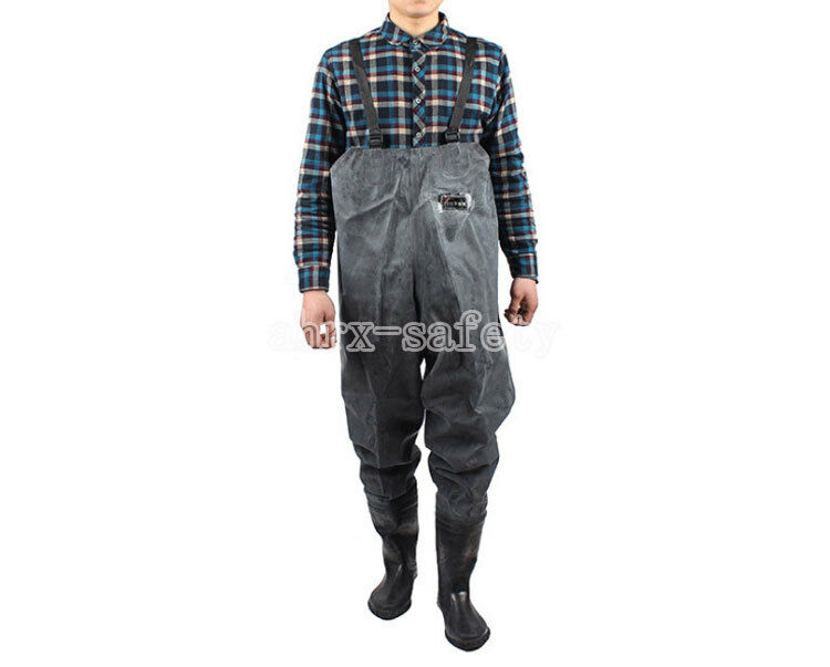 Unisex Waterproof Waders Working Overalls Pants Clothes Clothes Pants with Non Slip Rain Stivali 416930