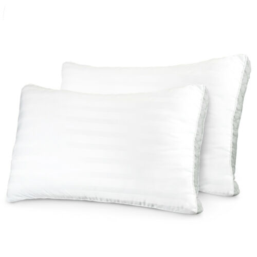 Restoration Collection 1800 Gusseted Gel Fiber Pillow 2 Pack by ienjoy Home