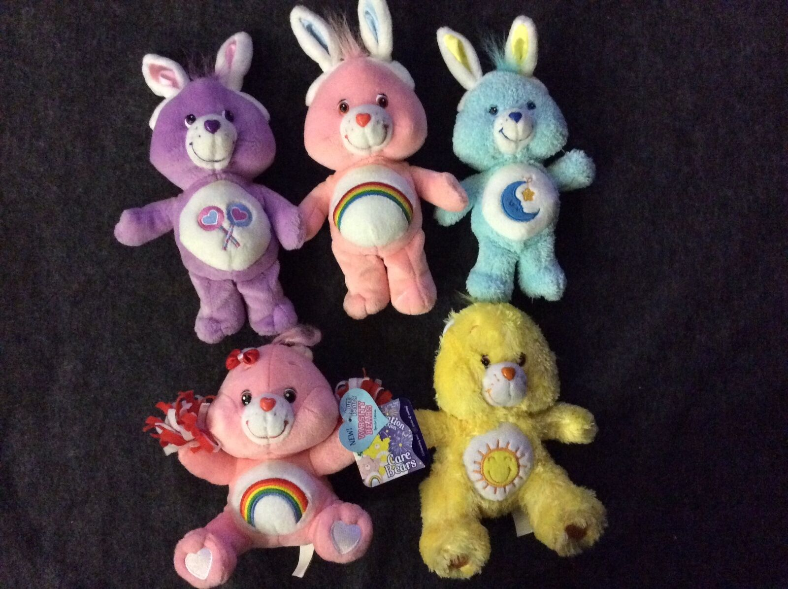 CARE BEARS LOT 5 PLUSH SOME NWT LIMITED EDITION EASTER