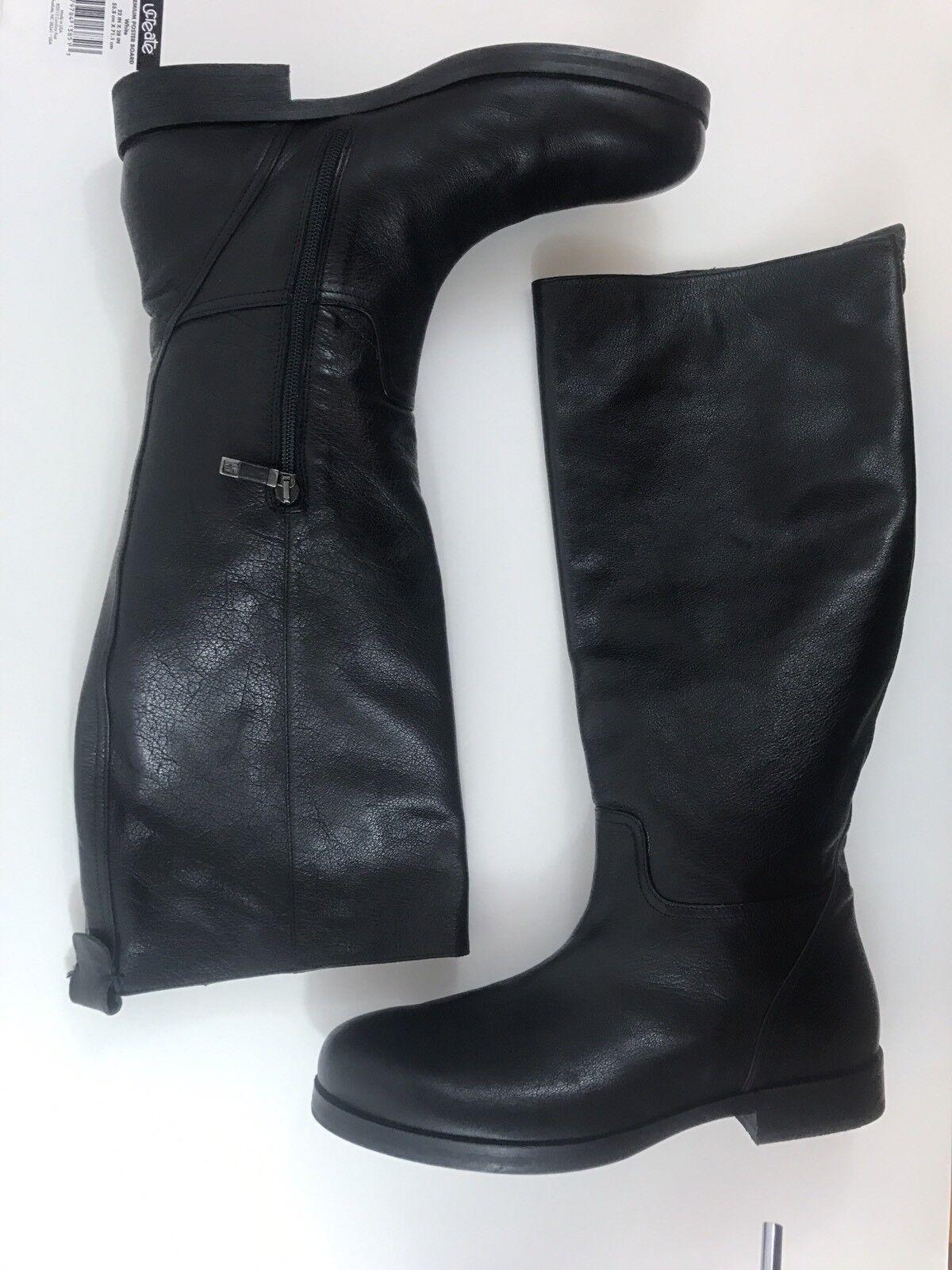 Alberto FERMANI AF Knee High Boots Womens Size 41 PLAIN BLACK