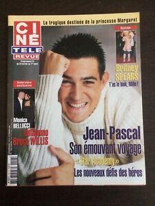 CINE-REVUE-2002-N-8-Jean-Pascal-Monica-Bellucci-Britney-Spears