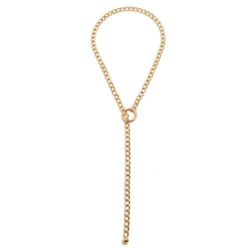 Round Ball Long Link Chain Pendant Necklace Jewelry Punk Women Choker Necklac/_DS