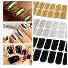 Fashion 16pcs Smooth Nail Art Sticker Patch Foils Armour Wraps Decoration Cool