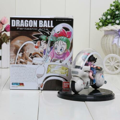 Dragon Ball Z Son Goku Bulma Motorcycle PVC Action Figure Collectible Model Toy