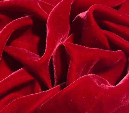 CHRISTMAS RED Silk VELVET Fabric