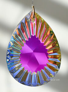 50mm-Ruffled-Pear-SunRay-Drop-AB-Crystal-Prism-2-Brilliant-Suncatcher