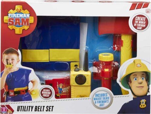Fireman Sam Utility Belt Set Role Play Costume Dress Up Pretend Play