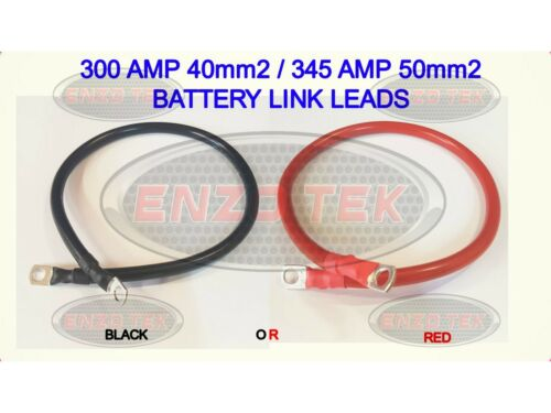 BATTERY REPAIR CABLE LEADS HEAVY DUTY BATTERY LINK LEADS STRAP EARTH LEISURE