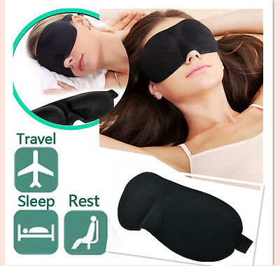 3D EYE MASK SPONGE SOFT COVER TRAVEL SLEEP BLINDER REST BLINDFOLD SHADE AID UK
