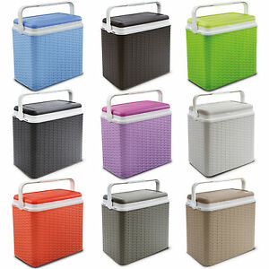 Large-24-Litre-Rattan-Design-Cooler-Box-Lunch-Picnic-Beach-Cool-Ice-Pack-Option