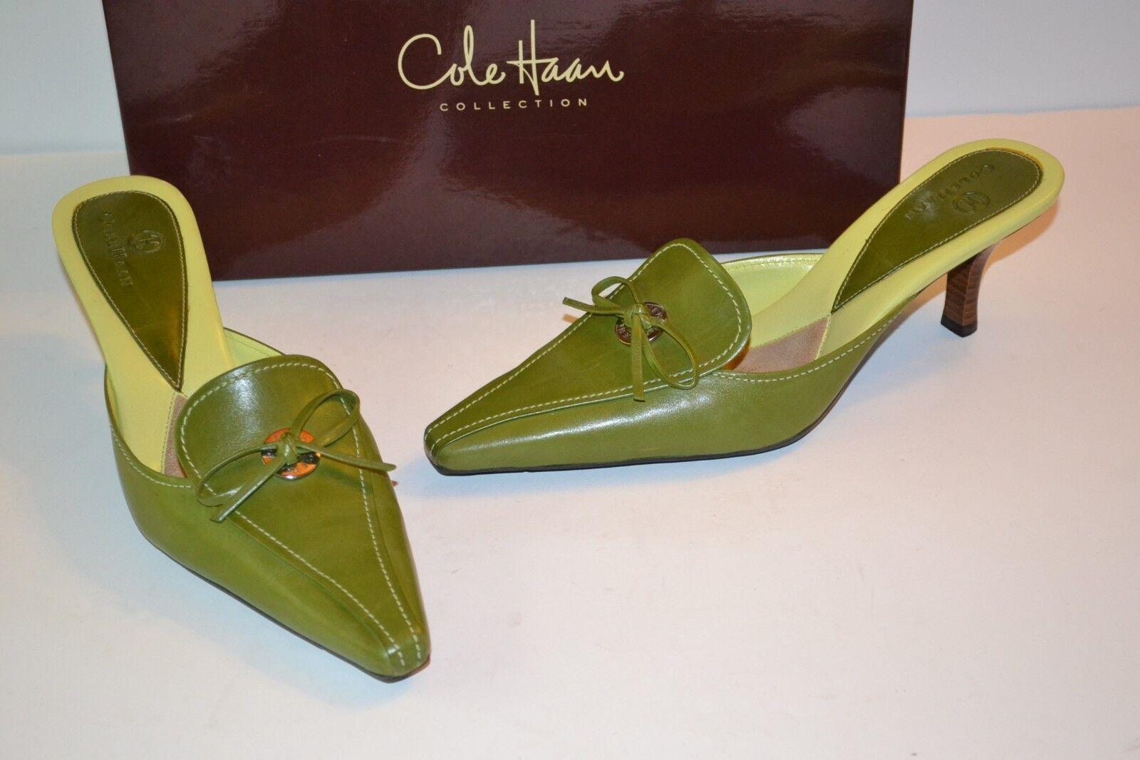 Cole Haan verde Oliva Cuero Brooke Gatito Tacón mula 6.5 6.5 6.5 B Slide-On  179  tienda hace compras y ventas