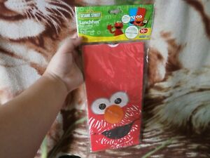 CLOSEOUT-SALE-Imported-From-USA-Sesame-Street-Paper-Lunch-Bags-10-Pcs-3