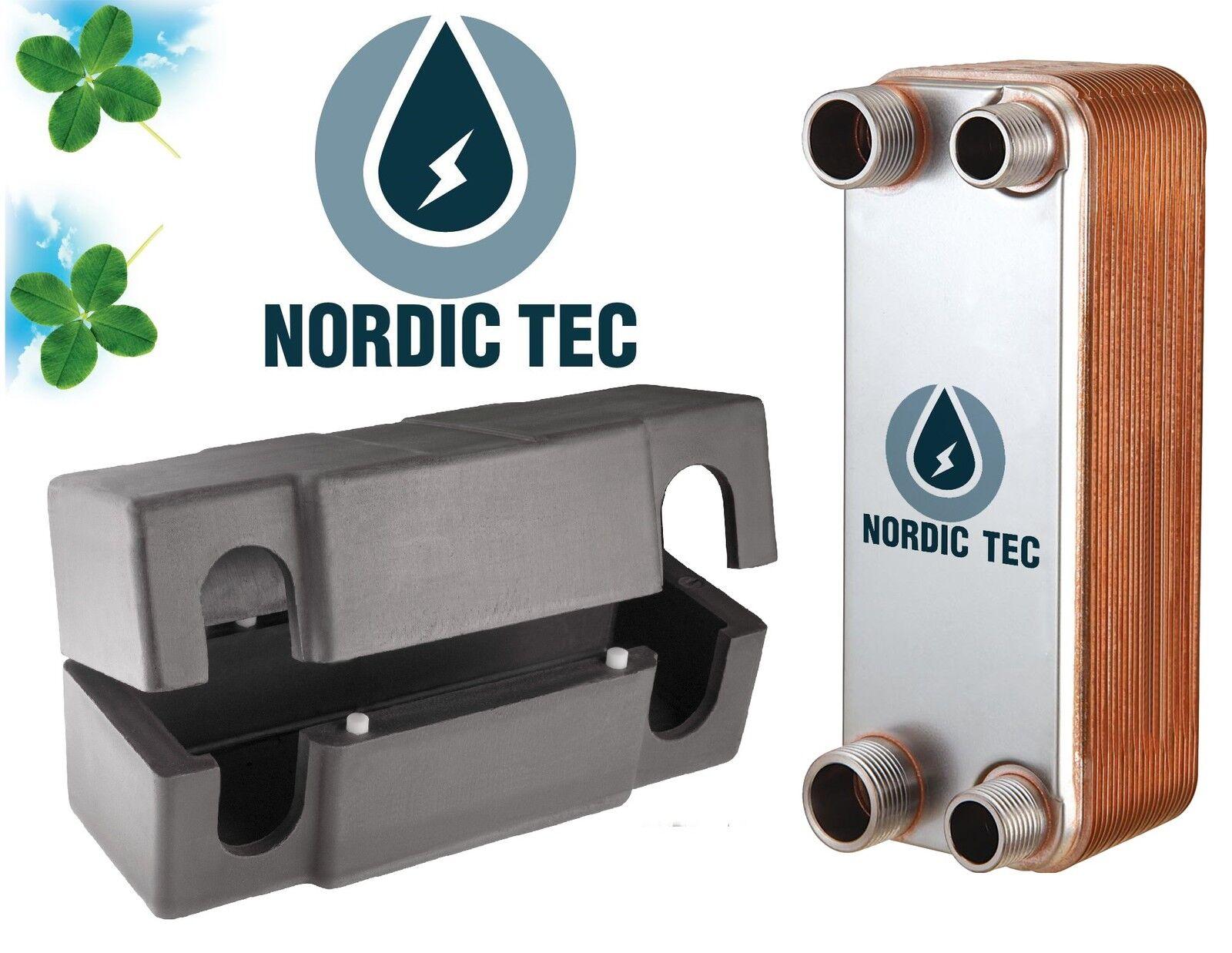 SCAMBIATORE di calore a piastre NORDIC TEC 3 4  inox 90-210kW con ISOLAMENTO