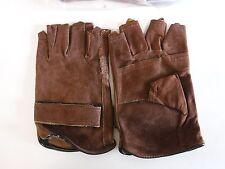 Lot Of 12 Pair Fingerless Leather Gloves Goatskin Medium 1 Dozen I34e