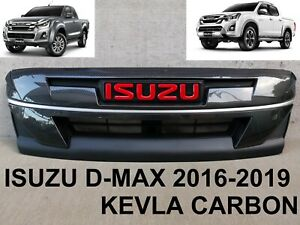 Upper Line Head Lamp Cover Trim Carbon Black For Isuzu D Max Pickup 2018 2019