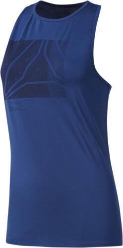 Blue Reebok Activchill Graphic Womens Training Vest Tank Top