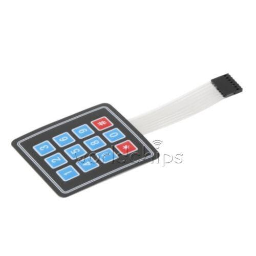 Matrix Array 12 Key Membrane Switch Keyboard For Arduino AVR 4x3