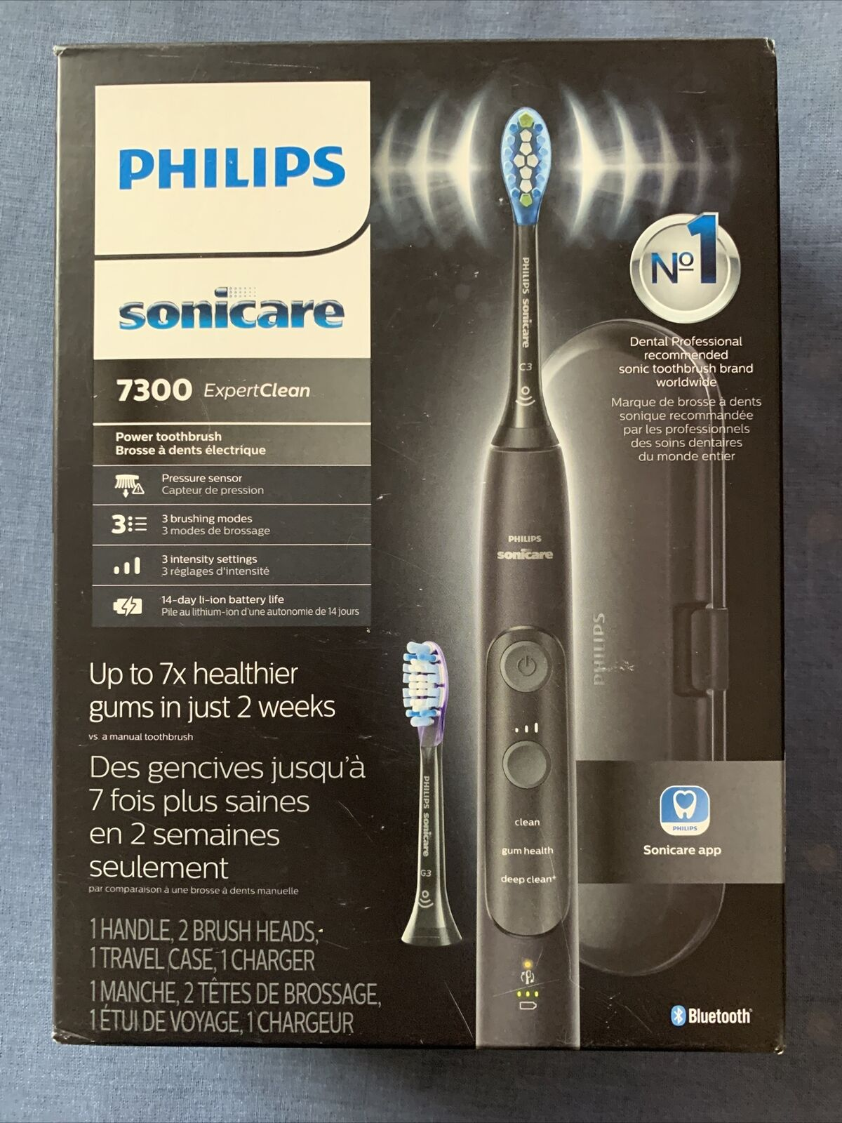 [NEW] Philips HX9610/17 Sonicare 7300 Expert Clean Electric Toothbrush - Black