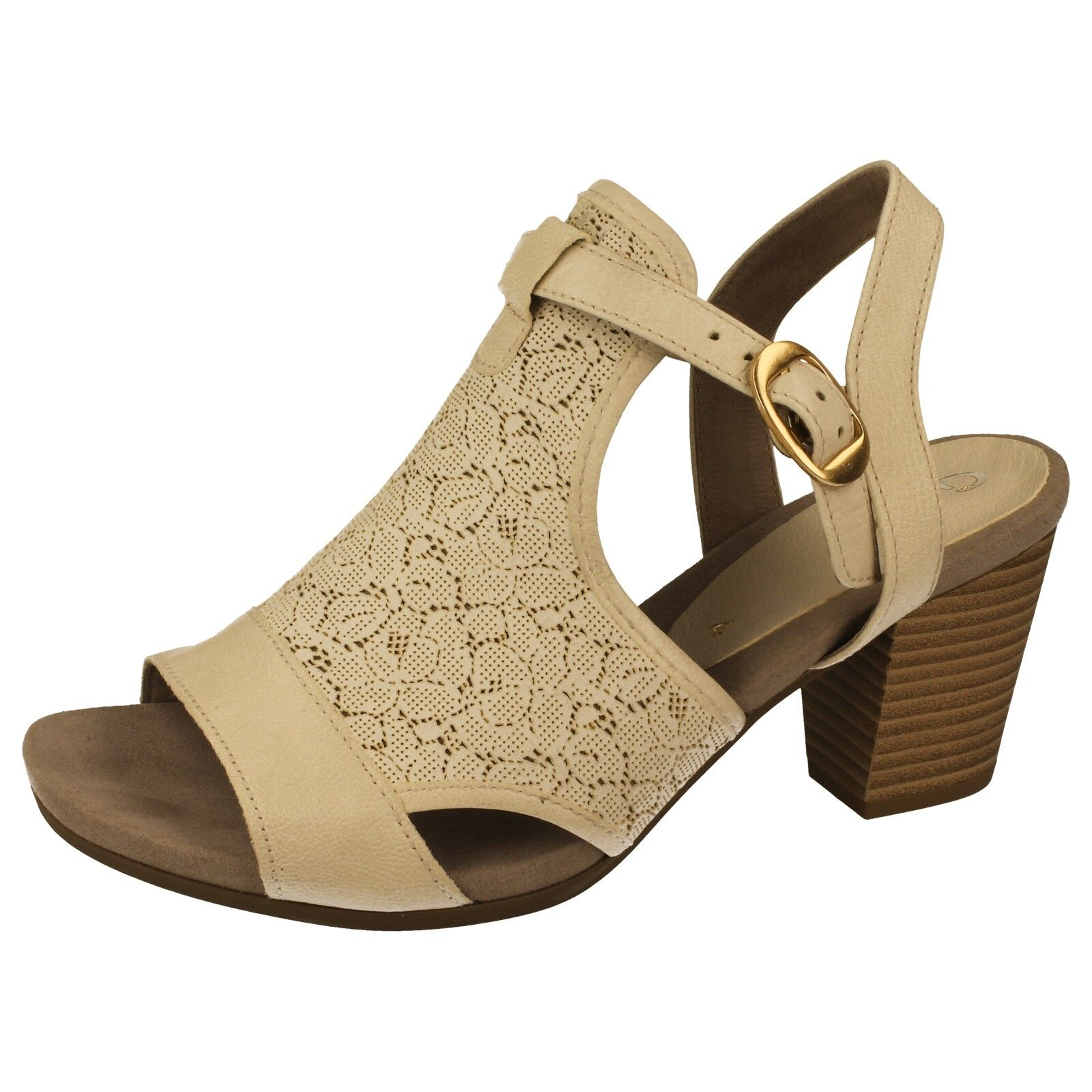 LADIES GABOR 25.550.52 OPEN BACK WEISS LEATHER SANDAL
