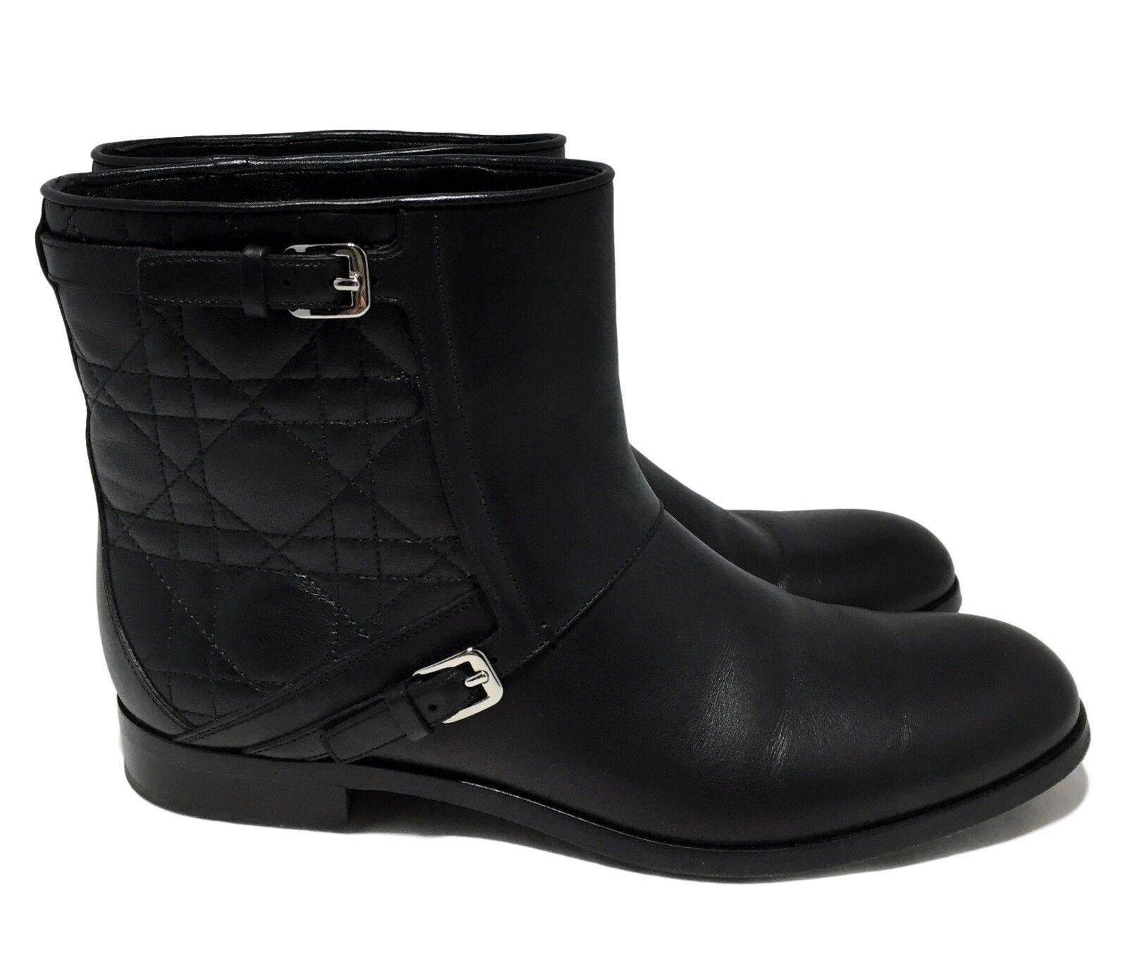 Christian Dior lágrimas 'City' Negro botas al al al tobillo, 38.5 7.5, 1650    mas preferencial