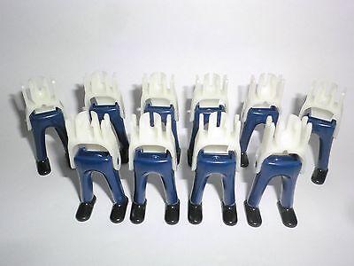 PLAYMOBIL 10 GUARDIA Piernas Pantalones Largos Azul Zapatos negros Royal DOBLE