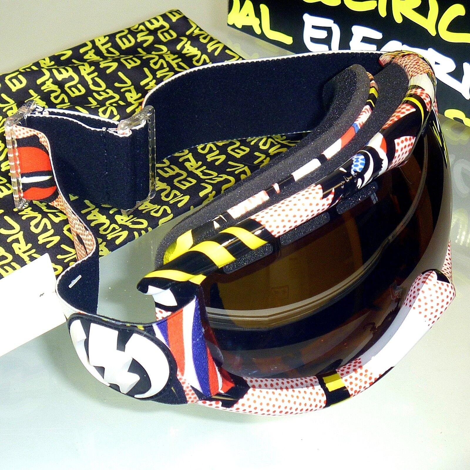 Electric Eg1s Nieve Goggles-Lips Marco   Bronce con Plateado Cromo