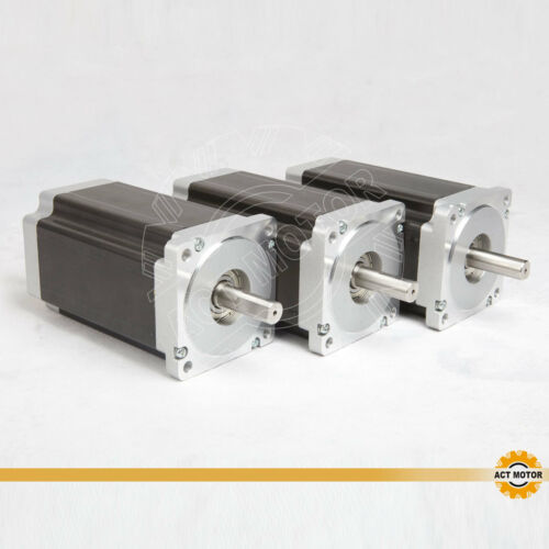 ACT MOTOR GmbH 3PCS Nema34 Stepper Motor 34HS5460 6A 151mm 12Nm Dual Flat Shaft