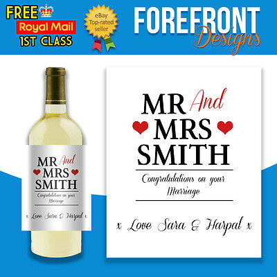 Personalised Wedding Anniversary Wine Bottle PHOTO Label ~ Perfect Special Gift