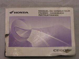 HONDA-CB600-CB600F-2003-MANUEL-DU-CONDUCTEUR-FAHRER-HANDBUCH-INSTRUKTIEBOEK