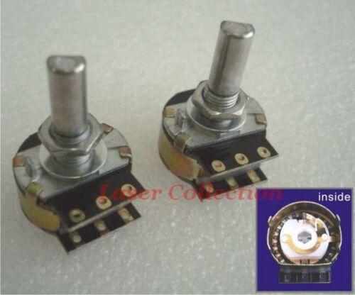 of 50K **D shape shaft** DACT Type 21 Stepped Attenuator Potentiometer * 2 pcs