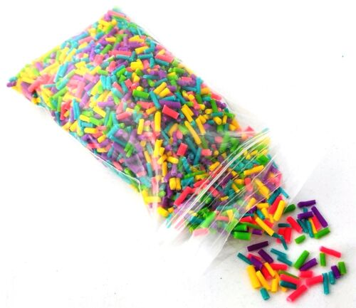 Polymer Clay Fake Sprinkles Decor NEON 30G Great for Slime Hand Made NEW!