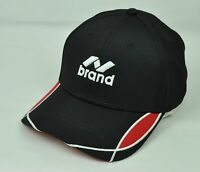 N Brand Mens Adult A Flex Ventilated Curve Bill Black Red White Lines Hat Cap