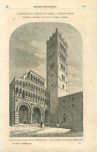 Cathedrale-Saint-Martin-de-Lucques-Duomo-di-San-Martino-GRAVURE-PRINT-1860