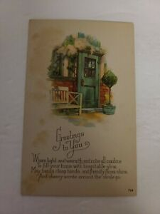 """Vintage Postcard - Greeting Card -""""Greatings To You"""" - Early 1900s Unposted- J77"""