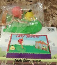 ANGRY BIRDS CAKE KIT BIRTHDAY CAKE TOPPER DECORATION 4 PIECE