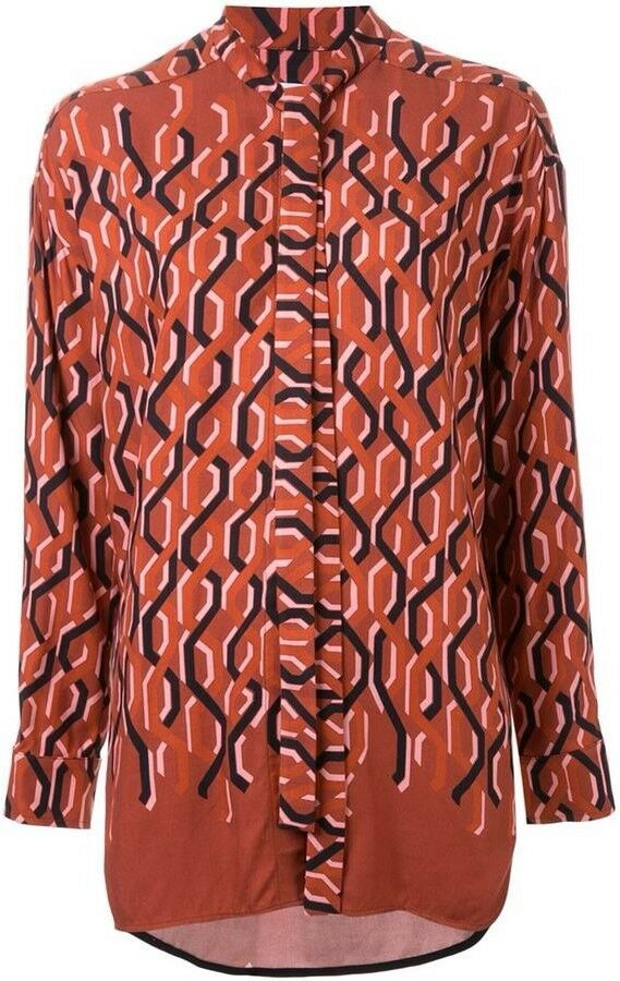 Sold Out  SCANLAN THEODORE Chain Print Shirt, Sz 12, BNWOT, RRP