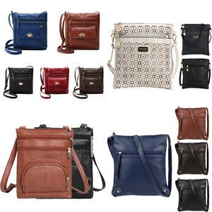 4fd6ea45048b Image is loading Fashion-Women-PU-Leather-Messenger-Bags-Casual-Small-