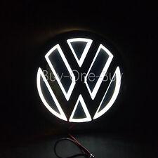 5D Reflective LED LOGO Emblem Badge Decal Sticker Lights For vw Volkswagen White