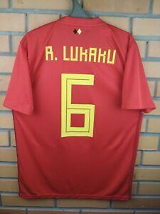 new products a2e4a 5c1b4 Details about Lukaku Belgium jersey medium 2019 home shirt BQ4520 soccer  football Adidas