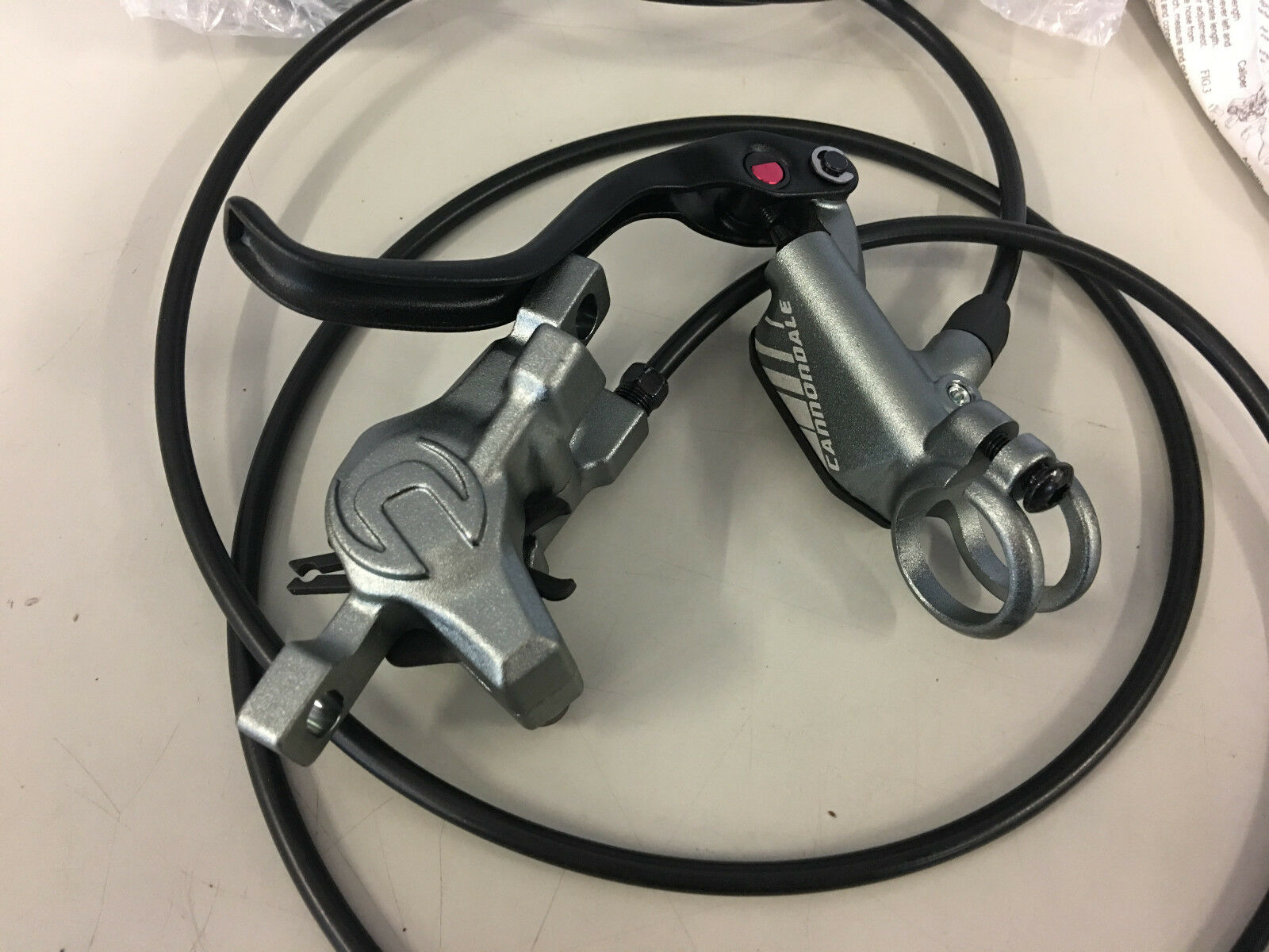 Canondale Helix 6 Hydraulic Disc Brake Set with redors (Front & Rear) Grey